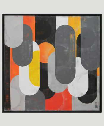 mono popart painting square ronald hunter