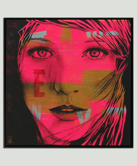 neon popart painting