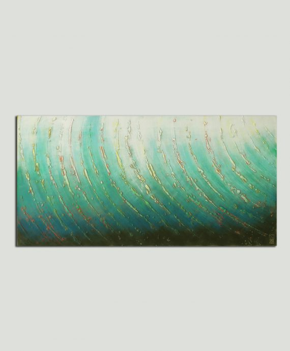 Original Abstract painting by Ronald Hunter, inspired by the sea.