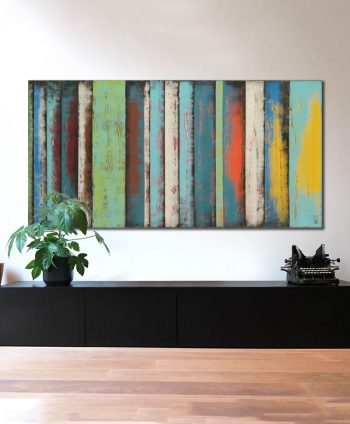 painting extra large yellow panels ronald hunter abstract