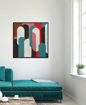pink framed painting