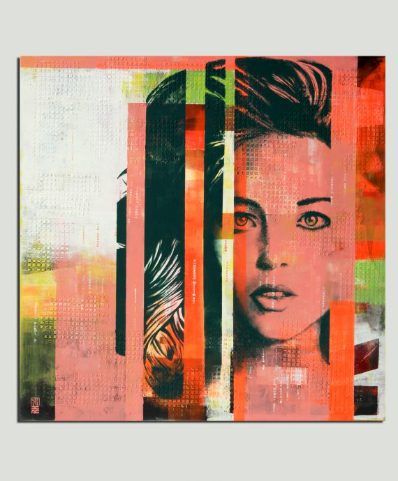 Pop Art Girl in Green – Ronald Hunter
