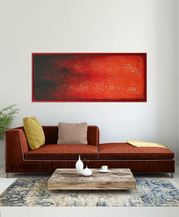red framed painting