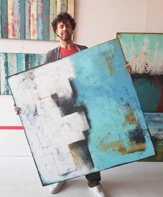 Stacked in Turquoise by Ronald Hunter