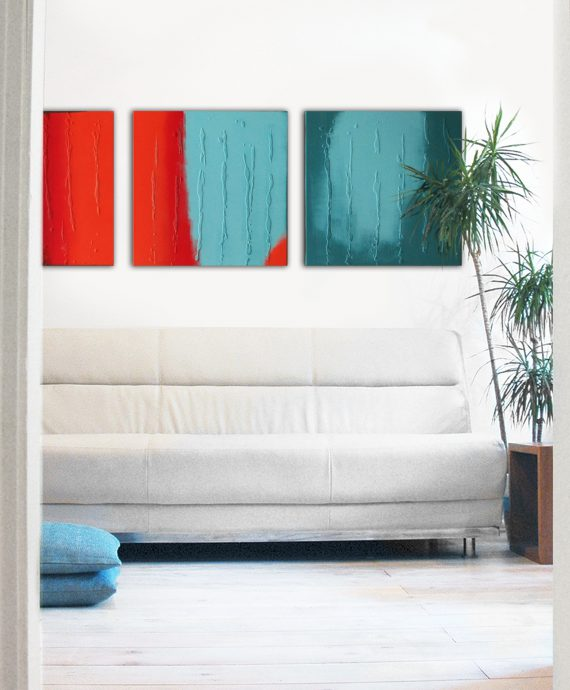 Abstract painting made by Ronald Hunter.