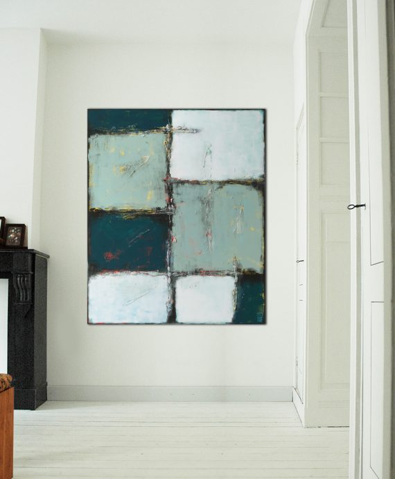 Abstract Lots, an original abstract painting by Ronald Hunter