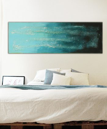 blue horizontal painting