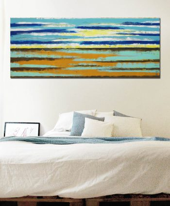 sea view landscape abstract horizontal painting ronald hunter