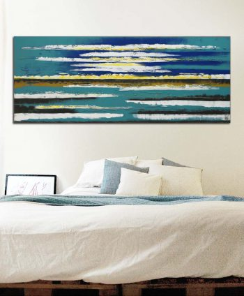 seascape painting blue horizon
