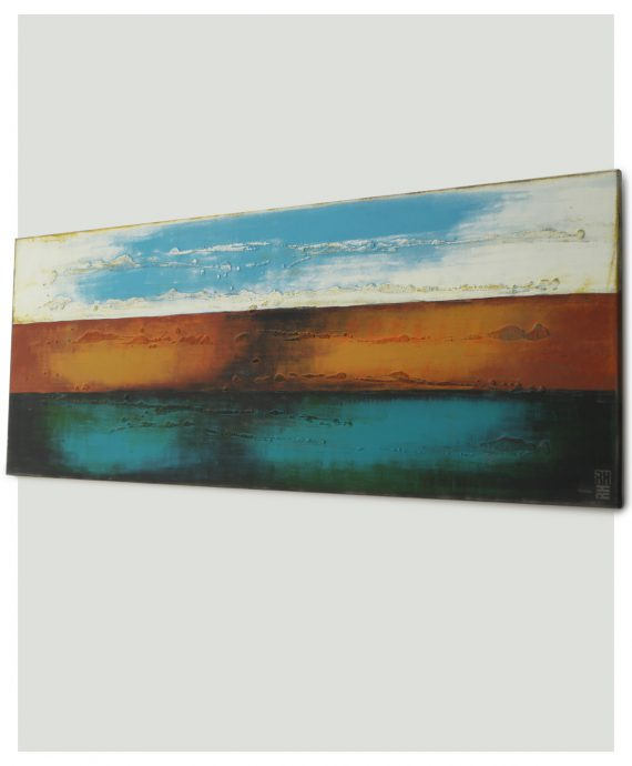 Horizontal painting, by Ronald Hunter