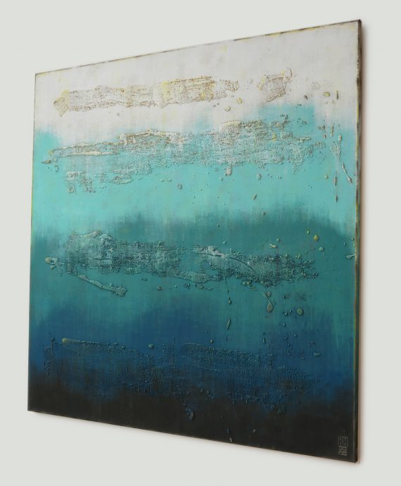 XL Oceanic Blues, large abstract painting by Ronald Hunter