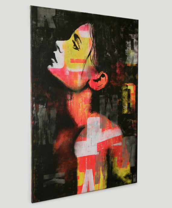 Pop up – Art girl – Ronald Hunter – Artist Dutch