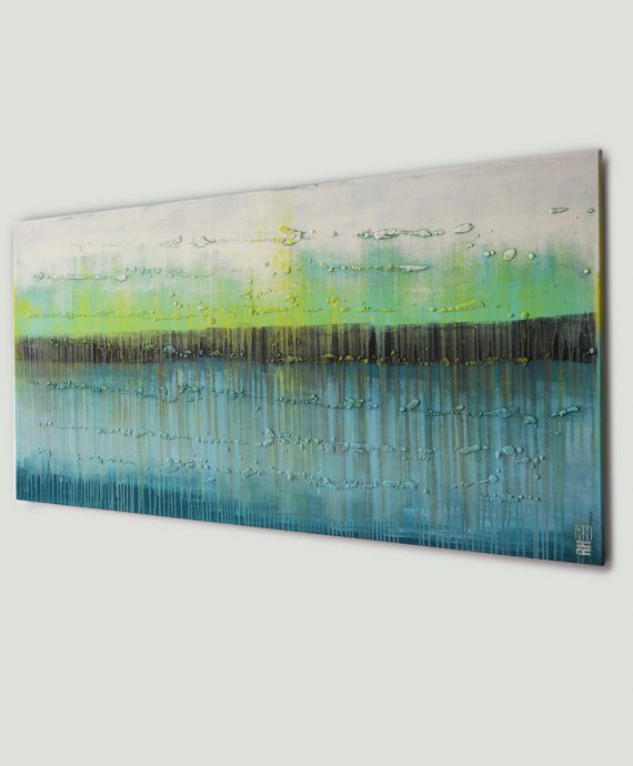 Abstract landscape, painting made by Ronald Hunter.
