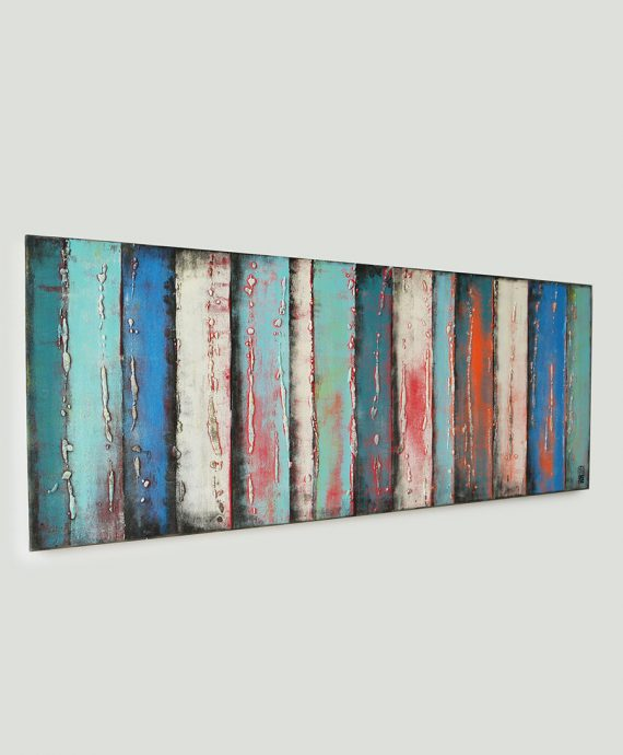 sideview_blue_panels_orange_abstract_painting_rhunter