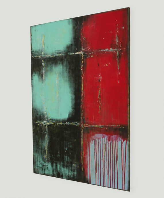 sideview_original_artwork_red_over_turquoise_rhunter