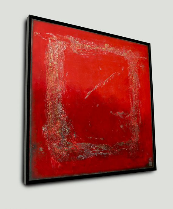 sideview_red_structured_abstract_painting_rhunter