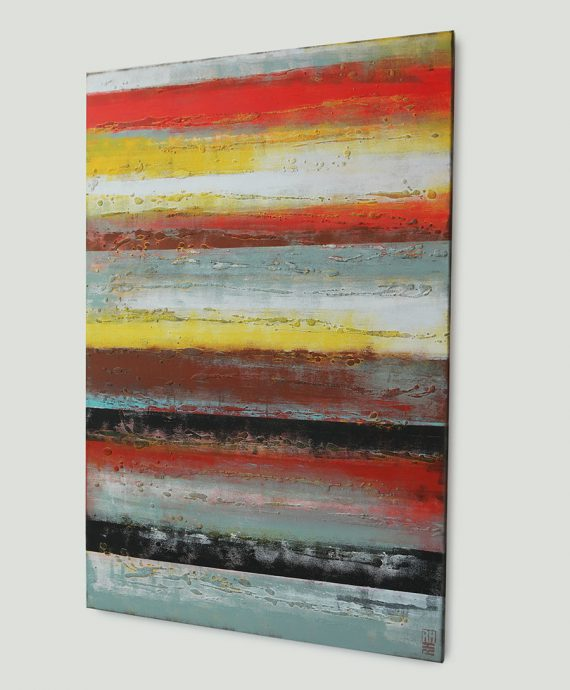 Sunset Panels, by abstract artist Ronald Hunter