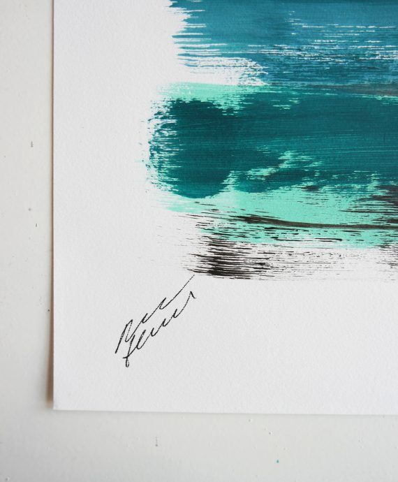 Blue Stacked – Fine Art on Paper by Ronald Hunter