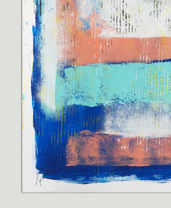 Fine Art on Paper by Ronald Hunter. Yellow in Blue