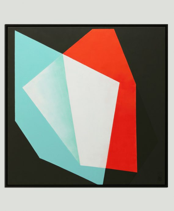 square minimal painting diamond abstract ronald hunter