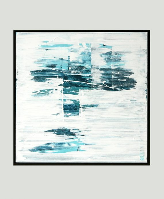 square painting with frame