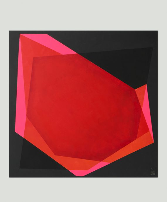 square pink painting