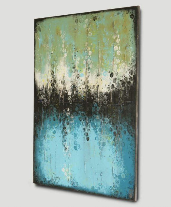 turquoise painting