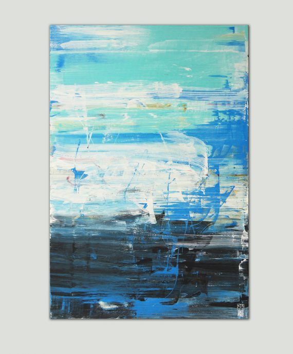 modern blue painting