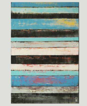 vertical striped painting