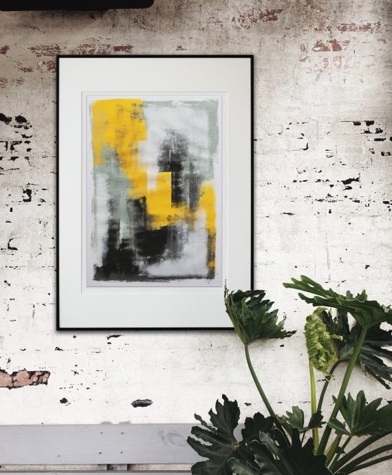 Yellow in Black – Fine Art on Paper by Ronald Hunter