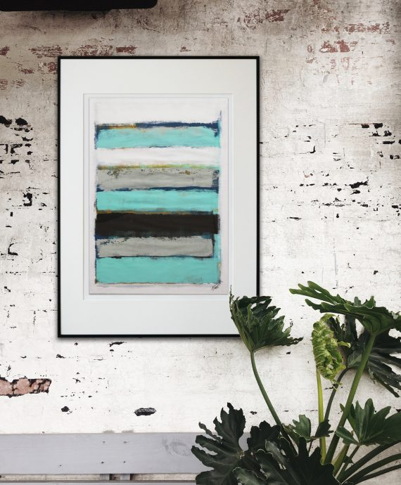 Lighter Blue Stacked – Fine Art on Paper by Ronald Hunter