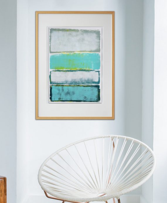 Spring Time Blue – Fine Art on Paper by Ronald Hunter
