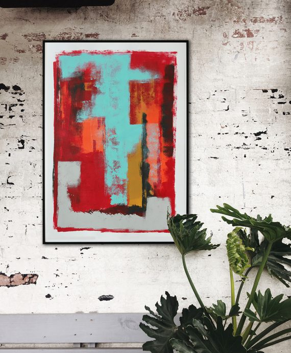 wallart_red_paper_abstract