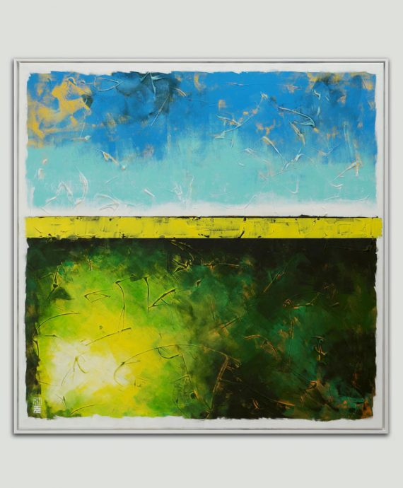 xl abstract art painting square frame ronald hunter