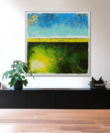 extra large xl abstract square painting on canvas ronald hunter