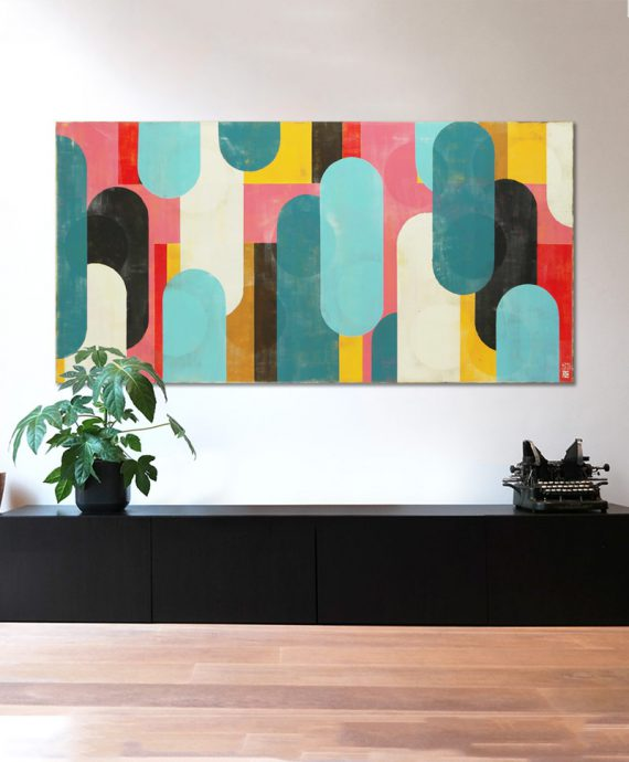 pink popart painting