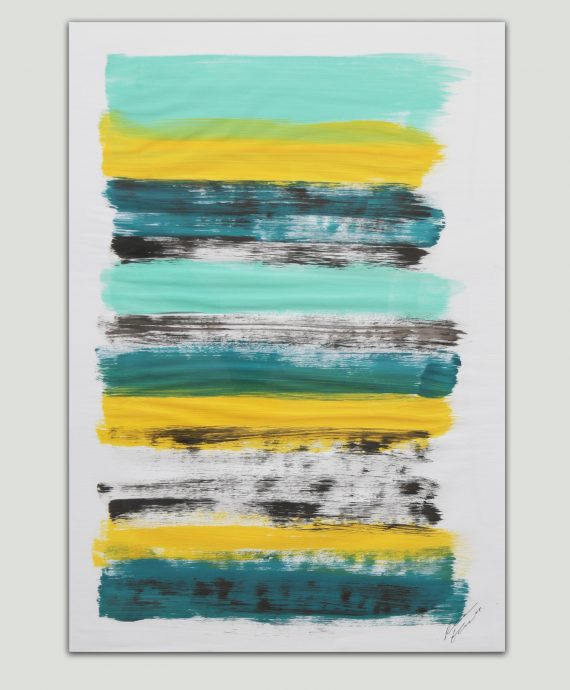 Yellow Stacked – Fine Art on Paper by Ronald Hunter