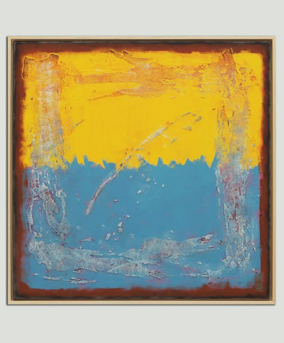yellow blue painting
