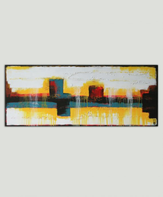city skyline painting