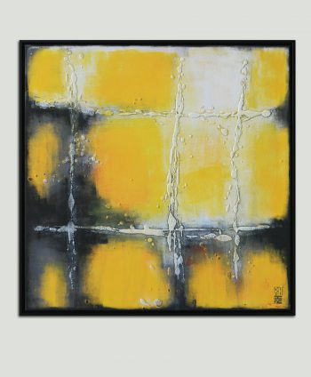 yellow square painting